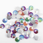 10Pcs Charm Resin Mermaid Fish Scale Cabochon Beads Flat Bottom DIY Jewelry New