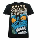 White Zombie Mens Blue Monster Rock Metal T-Shirt Officially Licensed