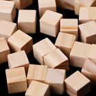 Внешний вид - 10/25/25mm Wooden Square Blocks Mini Cubes Embellishment for Woodwork Craft DIY
