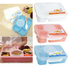 Microwave Bento Lunch Box + Spoon Utensils Picnic Food Container Storage Box JR