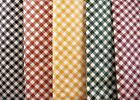 Assorted Earth-tone Colors & Sizes Gingham Check Vinyl Tablecloth FREE SHIPPING
