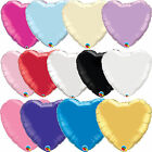 Qualatex Solid Colour HEART Shaped Foil Party Balloons Decoration {Air/Helium}