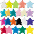 Qualatex Solid Colour STAR Shaped Foil Party Balloons Decoration {Air/Helium}