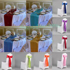 15x275cm Satin Chair Cover Sashes Bows - 30x275cm Satin Table Runner Table Cover