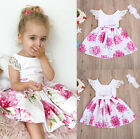 UK Stock Kids Baby Girl Flower Dress Princess Lace Tulle Tutu Formal Party Dress