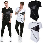 Personalized Mens Teenager Tees Shirt Slim Fit Short Sleeve Sloping Hem T-Shirts