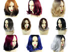 Wiwigs ® Lovely Medium Bob Style Wigs Red Grey Blue Brown Dip-Dye Ombre Hair
