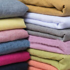 Plain Soft Washed Linen Cotton Blended Fabric Upholstery Curtains 140cm Wide