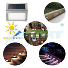 Stainless Steel Solar Power LED Garden Light Step Stair Walkway Wall Fence Lamp