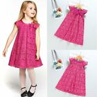 Flower Girls Princess Dress Kids Baby Party Wedding Pageant Formal Lace Dresses