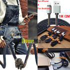 1/2M Heavy Duty Cowboy Jean Charger Data Sync Cable For iPhone 6 7 Samsung S7 S8