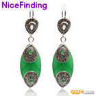 Fashion Marquise Stone Drop Dangle Hook Earrings Decorate Jewelry For Women Gift