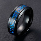 1 PC 8MM Silvering Celtic Dragon Tungsten Carbide Ring Mens Jewelry Size7-10/US