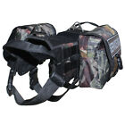 Camouflage TACTICAL POLICE TRAINING DOG VEST HARNESS Side Bags & free 2 Patches