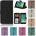Scrub Magnetic PU Leather Wallet Card Holder Stand Flip Case For Sony/Moto/HTC