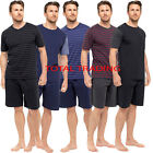 Mens Pyjama  Set Short Sleeve Top Pants Summer Pjs cotton mix PYJAMAS HT331