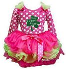 Hot Pink Green Tutu St Patrick's Day Mommy's Lucky Charm Polka Dots Party Dress
