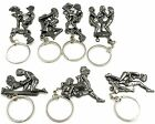 Moveable Kama Sutra Sex Positions Adult Keyring Key Ring Chain Metal Party Gift