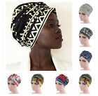 Women Floral Turban Hat African Wrap Hair Head Scarf Muslilm Hijab Long Tail Cap