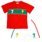 Boys Football Sport PORTUGAL No7 V Neck Top & Shorts Set 5-6 Years SALE