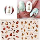 Christmas Nail Art Water Transfer Decal Manicure Sticker Xmas Snowflake Tattoo