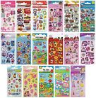Childrens CHARACTER FUN STICKERS - 6 SHEETS Party Pack Birthday Loot Bag Fillers