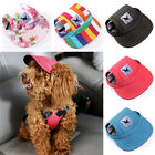 Cute Summer Canvas Puppy Small Pet Dog Baseball Cap Hat Outdoor Sunbonnet