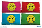 Angry Acid Smiley Face 90s Rave Small Scatter Cushion Decorative Bed Pillow Gift