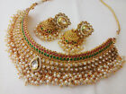 Indian Bollywood New Necklace Set Ethnic Gold Pated Traditional Necklace Set