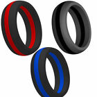 9MM Size 5-15 Silicone Rubber Ring Sports Fitness Outdoors Crossfit Wedding Band