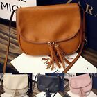 Fashion Women PU Leather Shoulder Bag Tassel Messenger Hobo Satchel Handbag