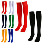Mens Boys Sports Football Soccer Plain Long Socks Cotton Over Knee High Sock UK