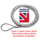 Galvanised Steel Wire Rope Cable Slings Assembly with a SOFT EYE LOOP on ONE end