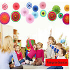 Paper Fan Party Decorations Tissue Paper Fans Set of 6 Birthday Wedding Events