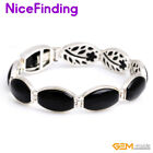 Fashion Tennis Bangle Chain Stone Bracelets Silver Plated Jewelry For Women 7""