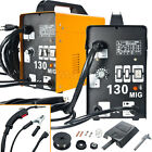 New MIG Welder Auto Flux Core Wire Feed Welding Machine DIY MIG130 With Mask
