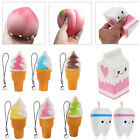 Squishy Peach/Milk Phone Straps Slow Rising Soft Stress Reliever Bread Kids Toy