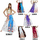 Skirt SJB7-12 Patchwork Cotton Wrap Sarong Casual Long Gypsy Boho Beach Thailand