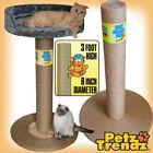 PetzTrendz® 100% Sisal Rope Giant 3 foot! Cat Scratch Post (with or without bed)