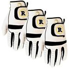 3 Revelation Golf Super Grip Leather Gloves - You Choose Size, Fit, Dexterity!!