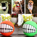 Pet Dog Ball Teeth Silicone Toys Chew Squeaker Squeaky Sound Dog Puppy Play Toy
