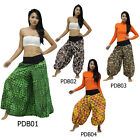 Pants PDB1 Thai Cotton Harem Wide Flare Leg Bell Bottom Boho Hippie Gypsy Women