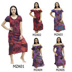 Mini Dress MZA1 Patchwork Cotton Thai On-Off Shoulder Gypsy Hippie Boho Comfy