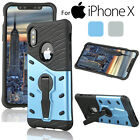 Armor Hybrid Bumper Protective Back Cover Shockproof Kickstand Case for iPhone X