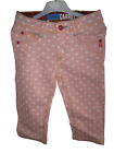 Girls Okaidi Carrot Jeans Denim Trousers Pink White Polka Dot French Age 2-6 NEW