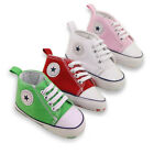 Newborn Infant Kids Baby Boys Girls Soft Bottom Canvas Sneaker Toddler Shoes New