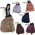 Skirt SHA01 Thai 2in1 Cotton Bubble Balloon Broomstick Hippie Boho Gypsy Peasant