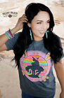 Crazy Train End Of The Trail Gray Aztec Pink Shirt Small to 2XL New Southwestern