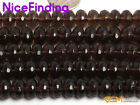"""Natural Brown Smoky Quartz Rondelle Stone Spacer Beads For Jewelry Making 15"""""""