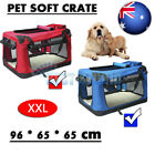 XXL Portable Foldable Pet Carrier Soft Crate Dog Cage Kennel Travel Bag Red/Blue